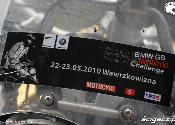 Naklejka BMW Motocykl GS Challenge Belchatow