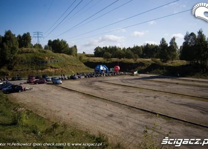 plac szkoleniowy slalom bmw challange