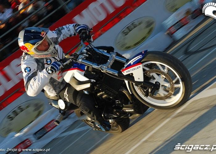 Pfeiffer Chris drifting on motorcycle