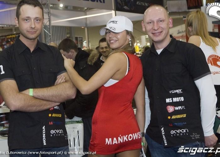 slawek grausam daniel mankowski hostessa wystawa motocykli warszawa 2009 e mg 0104