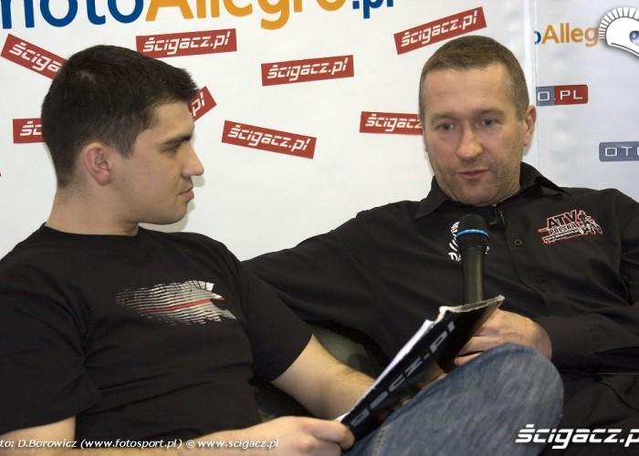 wywiad rafal sonik wystawa motocykli warszawa 2009 b img 0044
