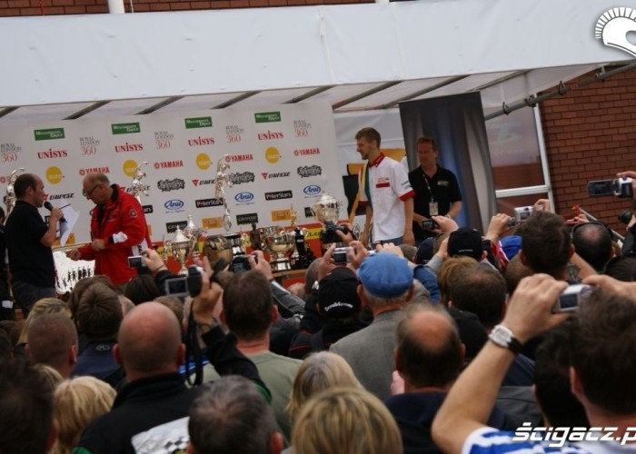 Isle of Man Tourist Trophy podium