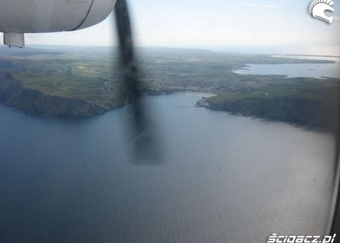 Isle of Man Tourist Trophy z samolotu