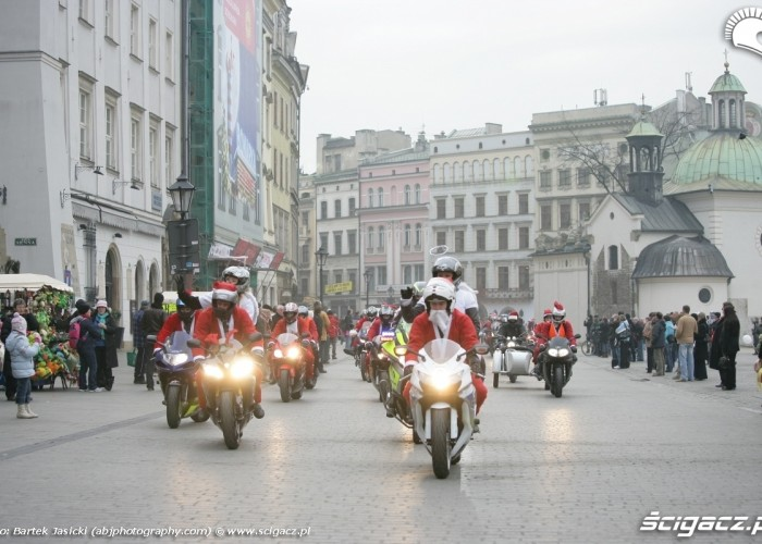 mikolaje na motocyklach krakow 2009