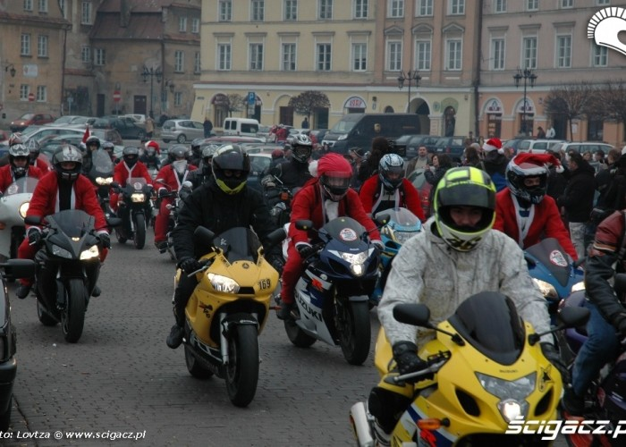 Mikolaje na motocyklach Lublin 2009 Mikolaje w drodze