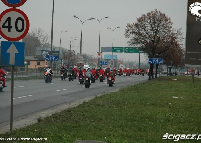 Mikolaje na motocyklach Lublin 2009 na ulicach Lublina