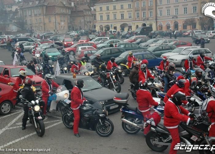 Mikolaje na motocyklach Lublin 2009 wyjazd
