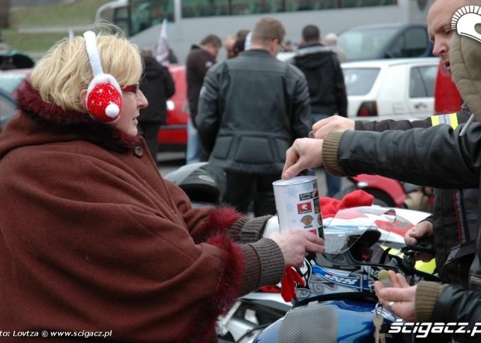 Mikolaje na motocyklach Lublin 2009 zbiorka dla dzieci