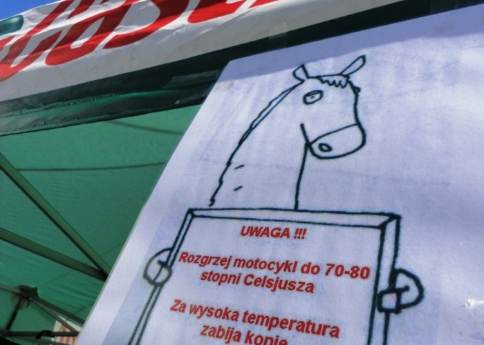 hamownia ostrzezenie Szczecin - Motocyklowa Niedziela na stacji BP 2011