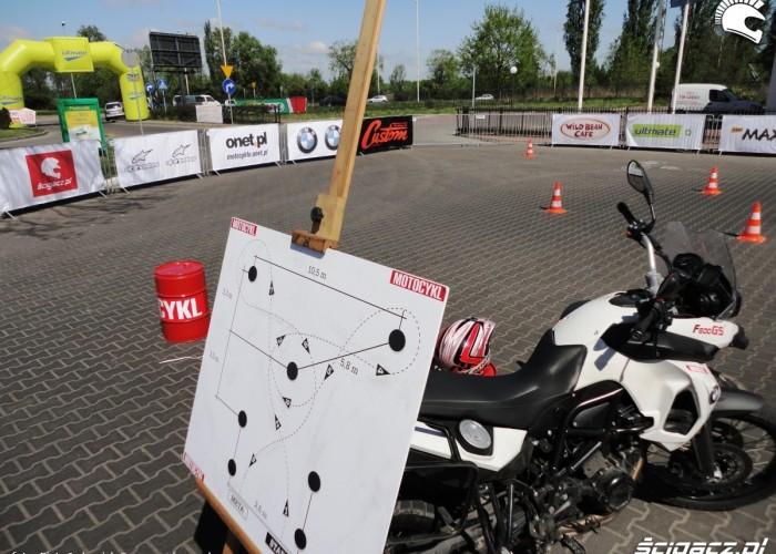 plan motocyklowej gietary Szczecin - Motocyklowa Niedziela na stacji BP 2011