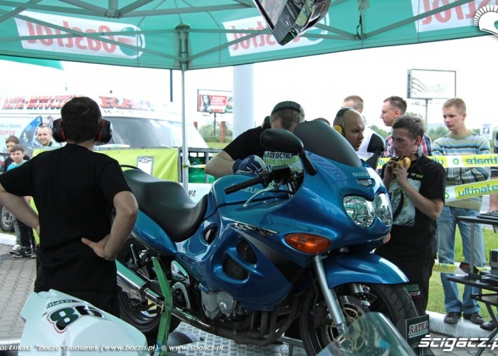 Motocyklowa Niedziela BP jajko hamownia
