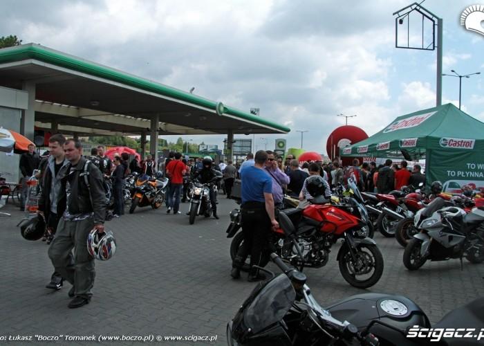 Motocyklowa Niedziela BP stacja