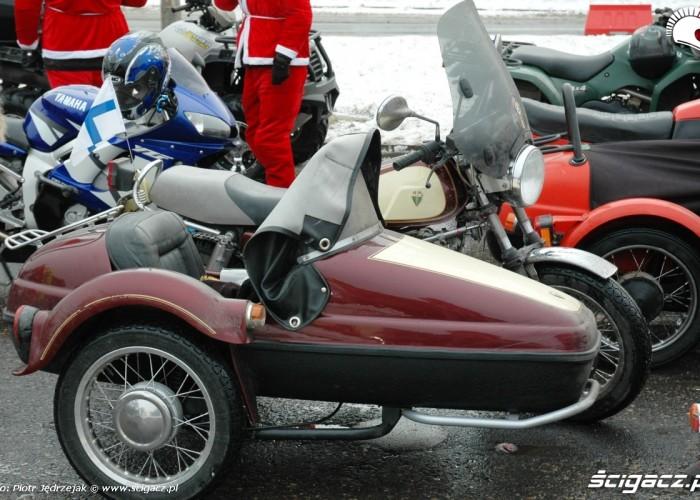 MZ z koszem FIN  mikolaje na motocyklach 2010