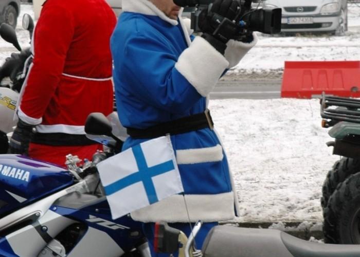 Niebieski mikolaj - telewizja motomikolaje w gdyni spocie i gdansku 2010