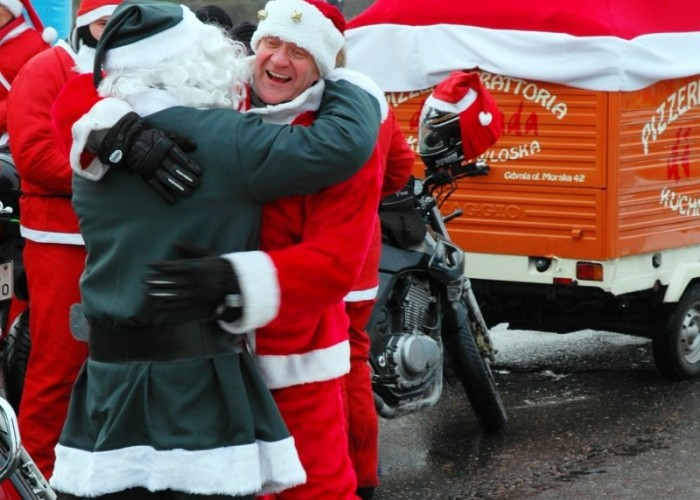Piotr DiStrada i jedyny zielony mikolaj mikolaje na motocyklach 2010