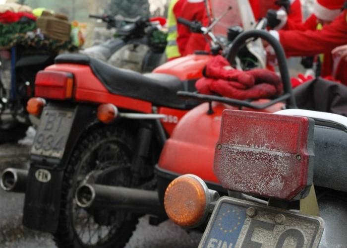 finlandia dwa motocykle mikolaje na motocyklach 2010