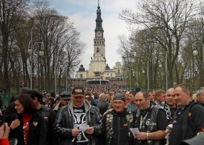Jasna Gora motocyklisci