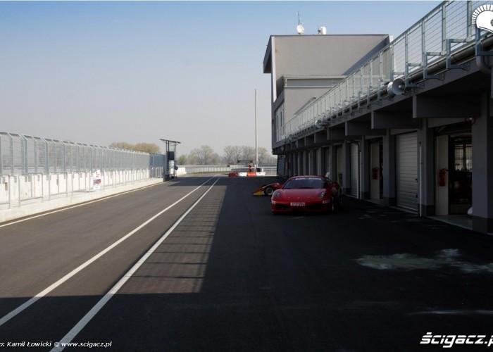 Race track slovakia ring wjazd depo