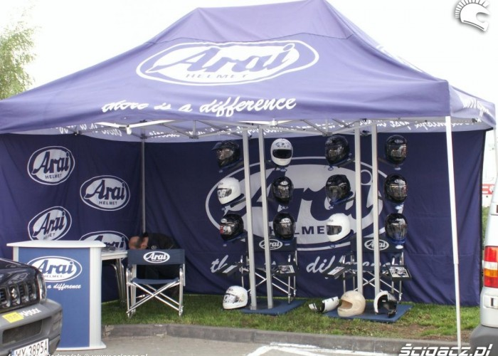 namiot arai motocyklowa niedziela BP 2010