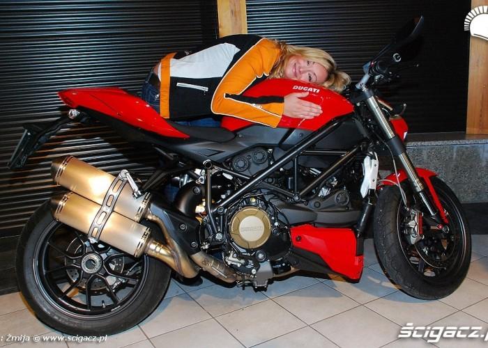 Martyna Wojciechowska motocykl Ducati