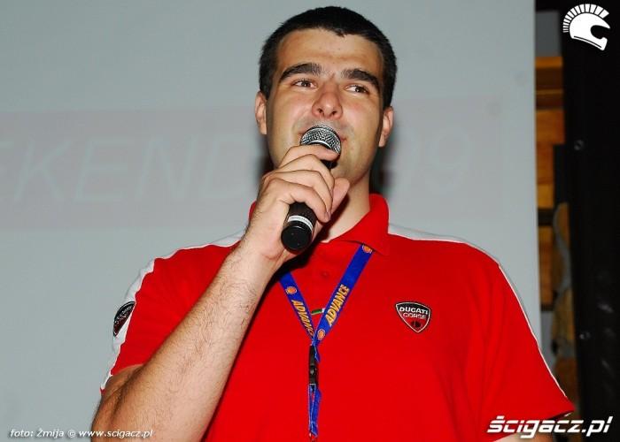 Michal Przezdziek Brand Manager Ducati