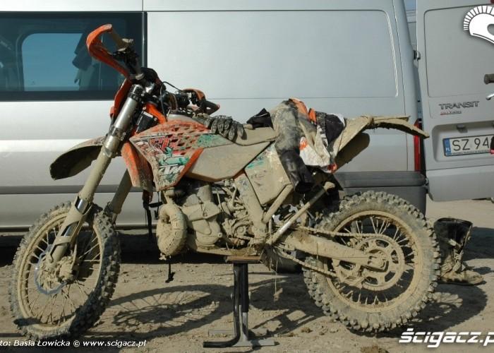 Yamaha Offroad Experience 2010 KTM przed jazda