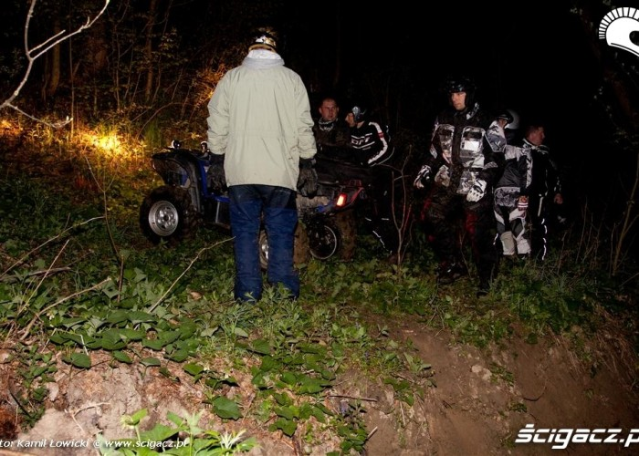 Noc na quadzie Yamaha Offroad Experience Ring Road uczestnicy