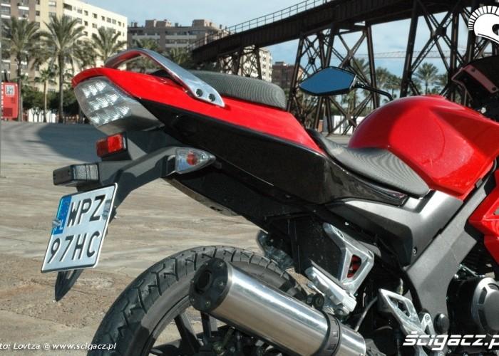 Zipp Pro 125 2010 tylna sekcja