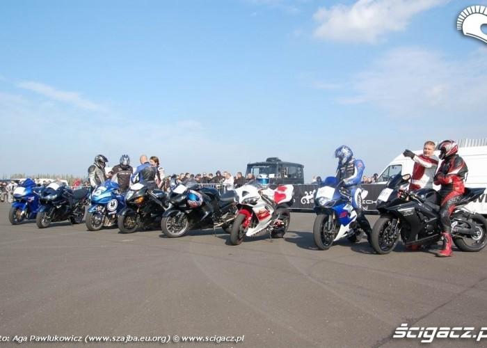 GECKO CUP MODLIN 2008 motocykle tuz przed wyscigiem