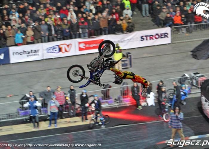 Double grab flip Nitro Circus Live 2013 Warsaw