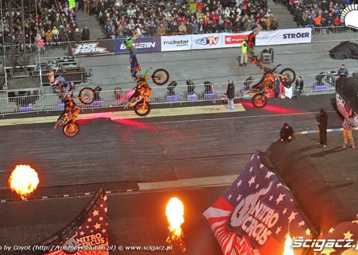 FMX train Nitro Circus Live 2013 Warsaw