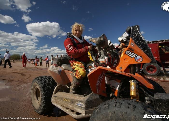Camelia LIPAROTI  quad KTM Dakar 2010