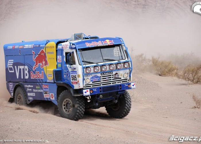 Ciezarowka Kamaz 4 etap rajdu Dakar 2010
