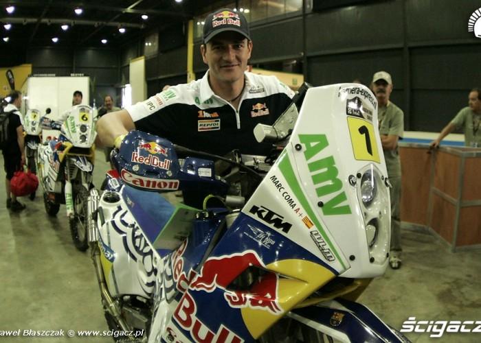 Marc Coma przed startem rajdu dakar 2010