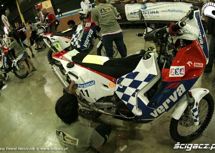 Motocykl KTM Kuby Przygonskiego odbior techniczny Rajd Dakar