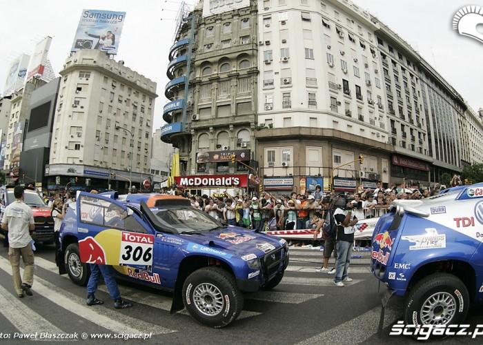 Parada Rajdu Dakar w Buenos Aires 2010
