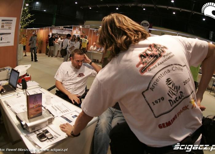 Rafal Sonik odbior techniczny ATV Polska Dakar 2010