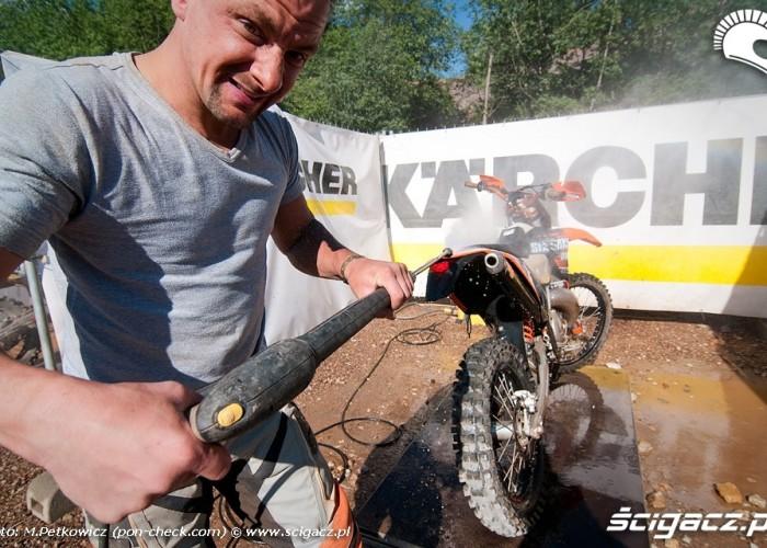 mycie motocykla karcher
