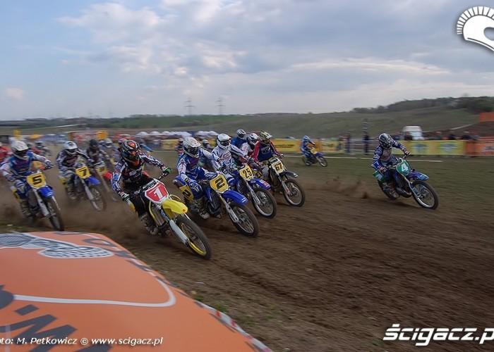 start pierwszy zakret motocross gdansk