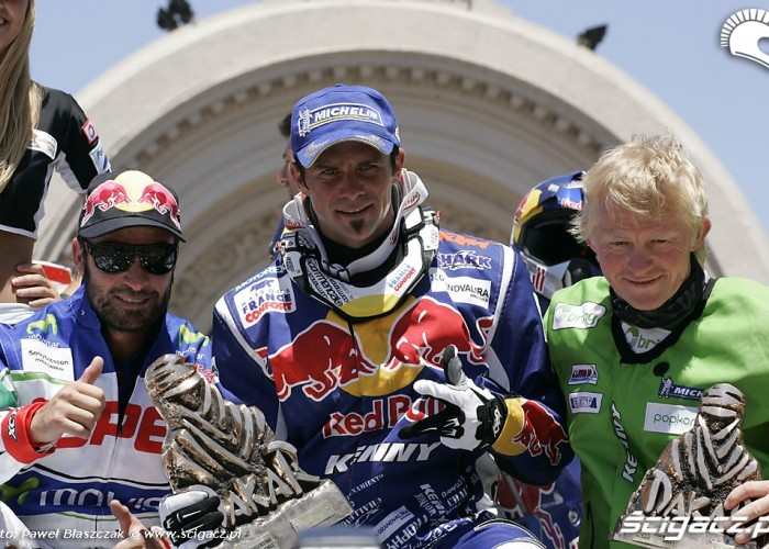 Francisco Lopez Cyril Despres Pal Ullevalseter podium Rajdu Dakar 2010