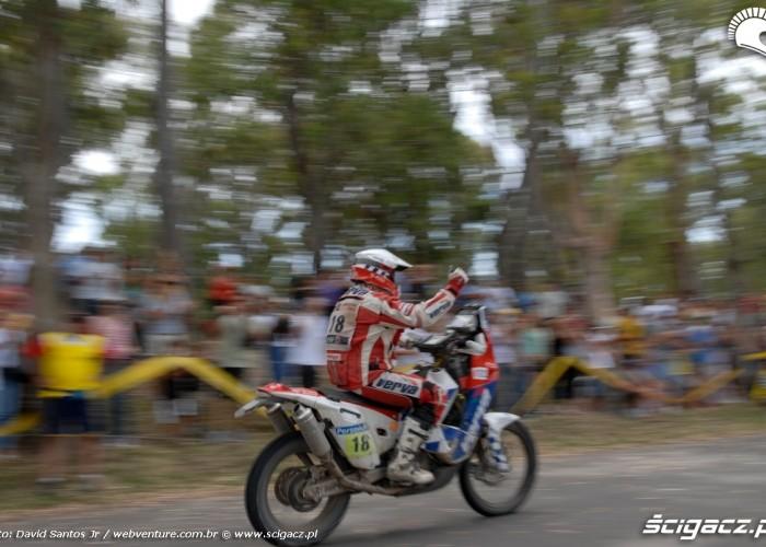 Jacek Czachor na mecie Rajdu Dakar