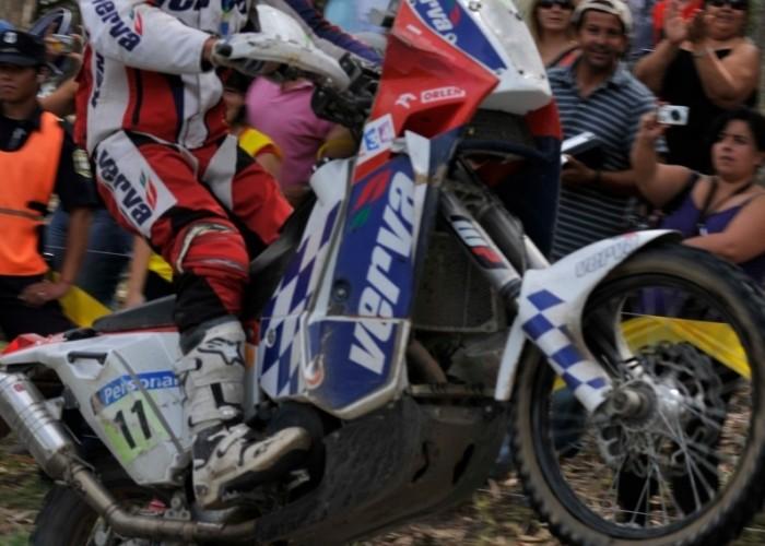 Kuba Przygonski na mecie Rajdu Dakar