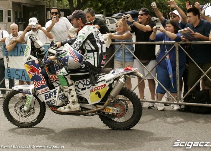 Marc Coma na mecie rajdu Dakar 2010