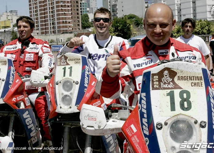 Motocyklisci Orlen Team Rajd Dakar 2010 meta