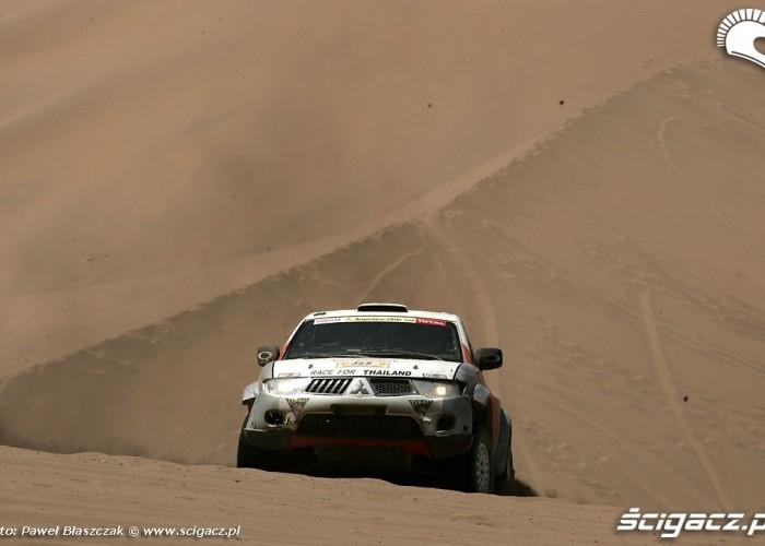 Rajd Dakar 2009 Pustynia Atacama Mitsubishi