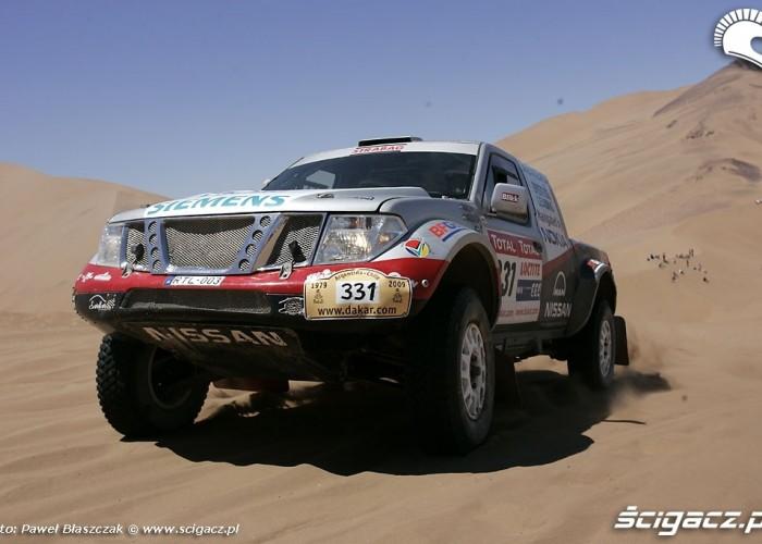 Rajd Dakar 2009 Pustynia Atacama Nissan