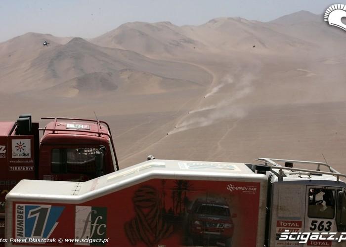 Rajd Dakar 2009 Pustynia Atacama ciezarowki