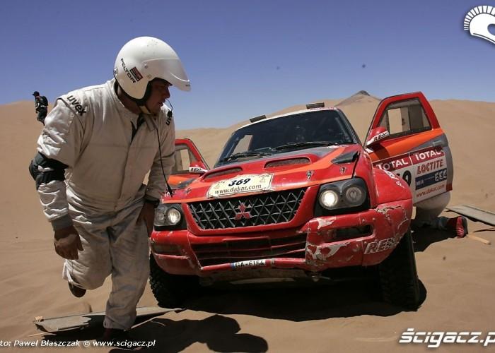 Rajd Dakar 2009 Pustynia Atacama piach