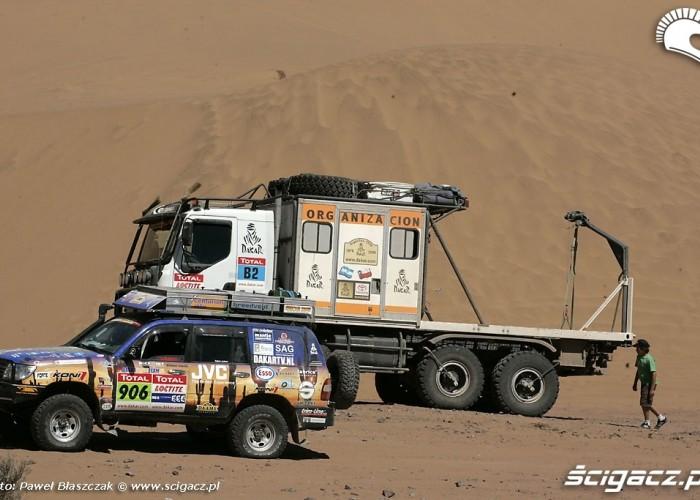 Rajd Dakar 2009 Pustynia Atacama samochod pomocniczy