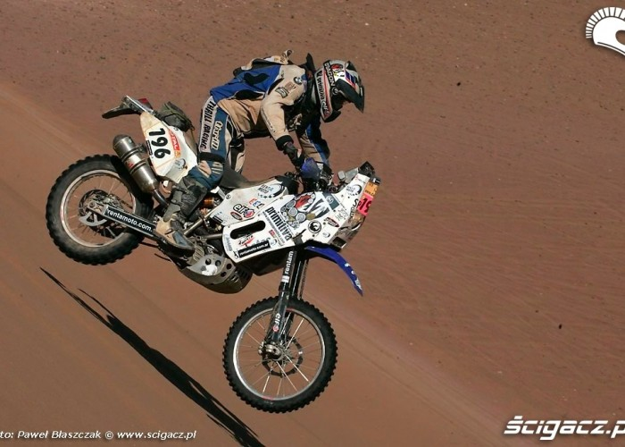 Rajd Dakar 2009 Pustynia Atacama skok